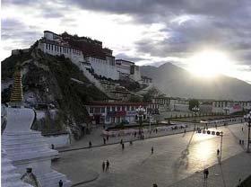 Panoramic view  in Lama Temple in Beijing, China