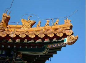 Rooftop in Lama Temple in Beijing, China
