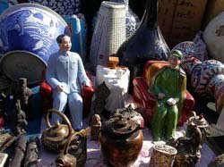 Porcelain Mao in Panjiayuan Weekend Market Beijing China