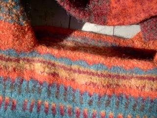Close up of fabric after third trip to the laudrymat
