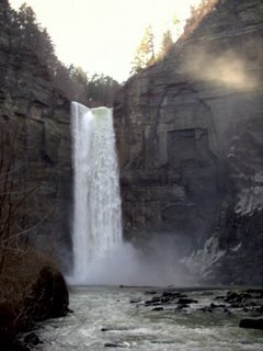 Taughannock Falls = 200+ foot drop