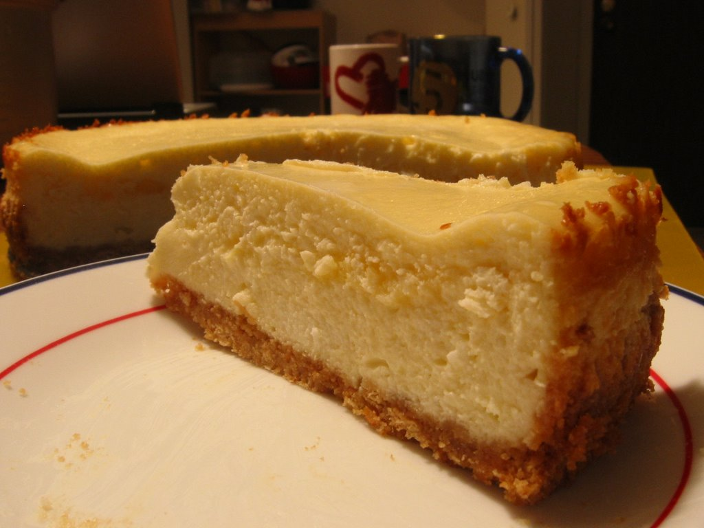 Fresh from the Oven: Lemon Curd Marbled Cheesecake