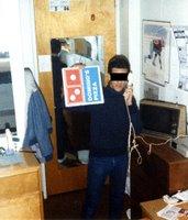 cameron w/pizza box