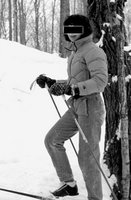 marie on skis