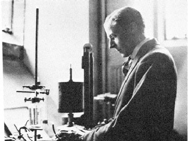 Edgar Adrian in his laboratory.