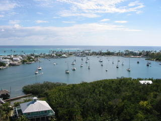 Hopetown Harbour viewed from lighthouse