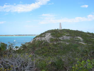 Hike up to Monument, Stocking Island