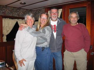 Bev, Dianne, Ted & Ross on LeBouclie