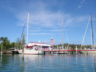 Hopetown Marina, lighthouse in background