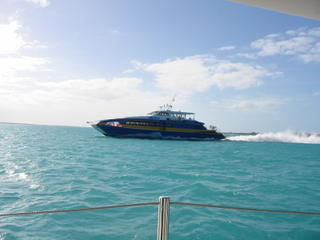 Fast ferry coming from Nassau