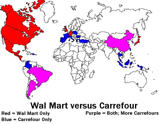 "carrefour vs tesco Walmart and carrefour in china  5-1-2011 ""global scope [in 2015] will be a necessity, not an option to grow the top line and bolster the bottom line."