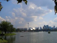 city view from Lake Titiwangsa