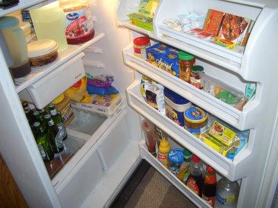 not-so-empty refrigerator