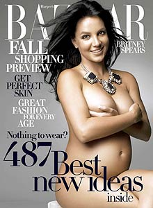 Britney Spears naked on the cover of Harpers Bazaar