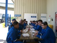 Almoço na oficina - Lunch at the workshop