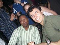 Na pista de dança - At the dance floor: Winston, me and Emma