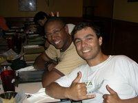 Eu e o Winston, no restaurante mexicano - Me and Winston, at the mexican restaurant