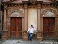 Ancient doorways of a church in Patzcuaro