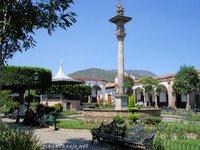 La Plaza Principal and Monumento de la America in Quiroga