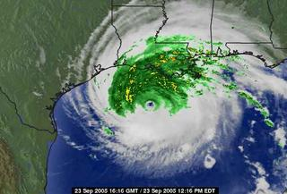 Weather channel shot of Rita