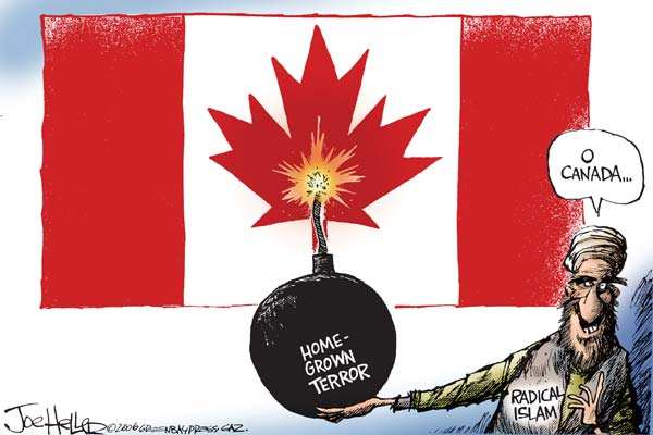 Image result for Terror IN CANADA CARTOON