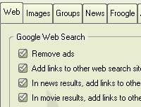 Firefox extention: Customize Google