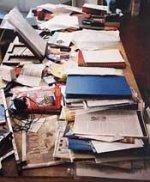 Muriel Spark's desk