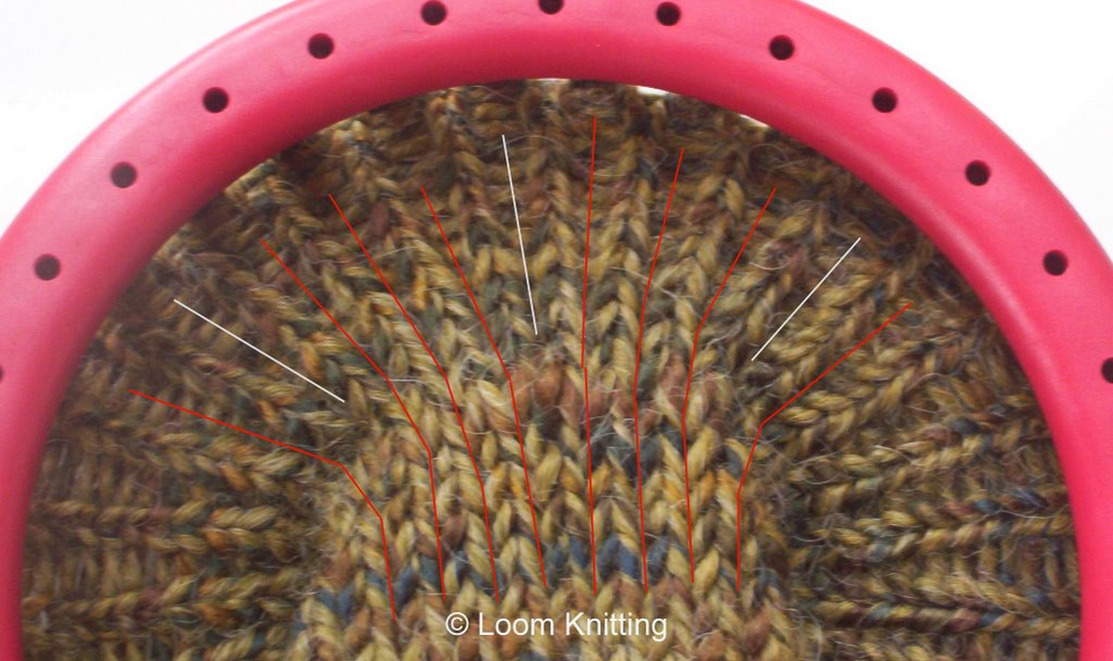 Loom Knitting Increase Stitches : Loom Knitting: Increasing Stockinette Stitches