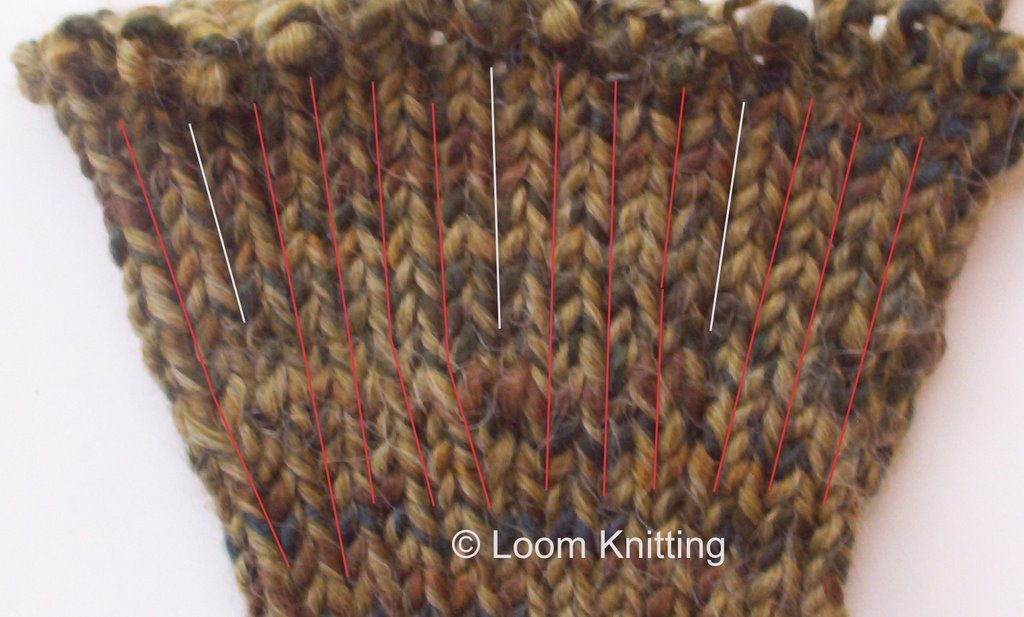 Loom Knitting: Increasing Stockinette Stitches