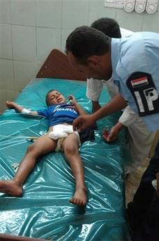 Child in Yarmouk hospital injured by grenade