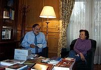 Fernando González Urbaneja con Clara Estrada, presidenta de la ANPAP