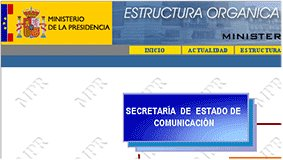 pagina web del ministerio de la Pesidencia
