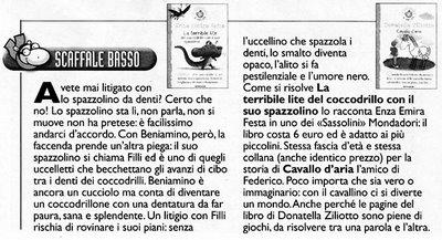 La recensione su Popotus, supplemento di Avvenire del 2 marzo 2006.