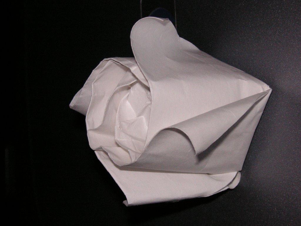 Blah Origami Rose
