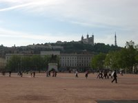 View of Vieux Lyon from La Place Bellecour
