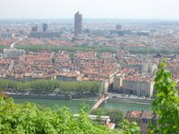View of Lyon from Cathédrale Saint-Jean