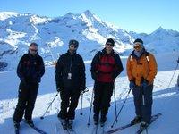 Ski team pose