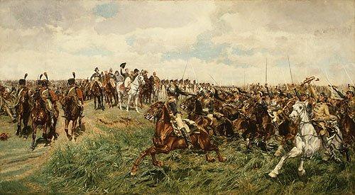 Chevaux Historiques Famous Horses Le Fabuleux Tableau D Ernest Meissonier 1815 1891