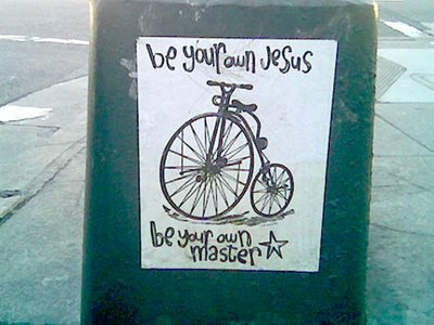 Image of Be your own Jesus graffiti