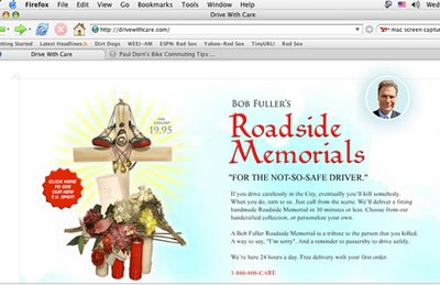 Image of Bob Fuller Roadside Memorials website