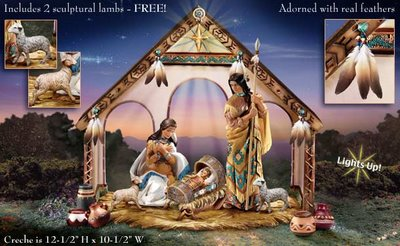 Image of special, limited edition Nativity Creche offered by Hawthorne Village of Niles, Illinois