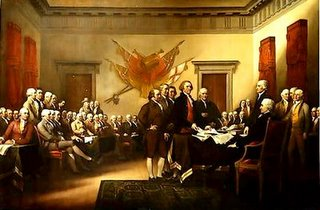 trumbull's depiction of the signing of the declaration of independence