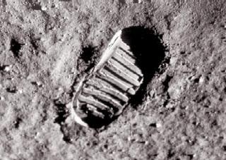 neil armstrong's lunar footprint