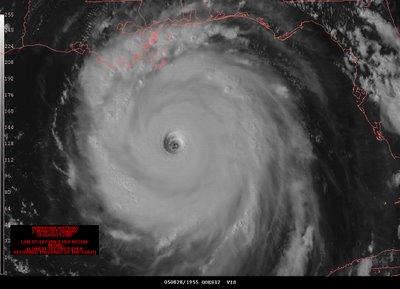 Satellite Image of Hurricane Katrina - August 2005