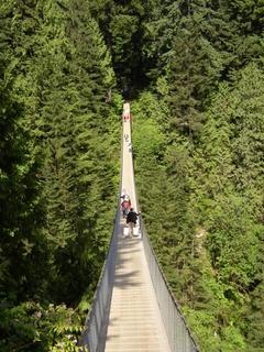 Capilano Bridge à Vancouver en Colombie Britannique, Canada