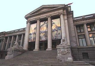 L'entrée de la galerie d'art de Vancouver en Colombie Britannique, Canada
