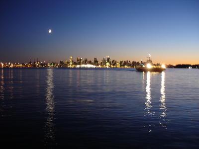 Le centre ville pris depuis la côte nord (Vancouver, Colombie Britannique, Canada)