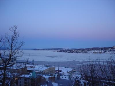 Le fleuve Saint Laurent à Québec (Ville de Québec, Canada)
