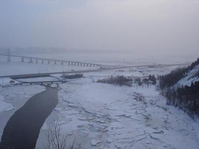 Depuis les chutes de Montmonrency (Ville de Québec, Canada)