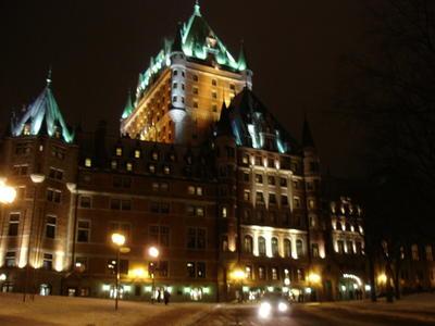 Le château de Frontignac dans le vieux Québec (Ville de Québec, Canada)